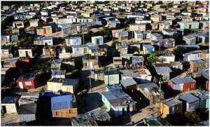 Khayelitshatownship in Cape Town, one of South Africa's largest and fastest growing informal settlements.