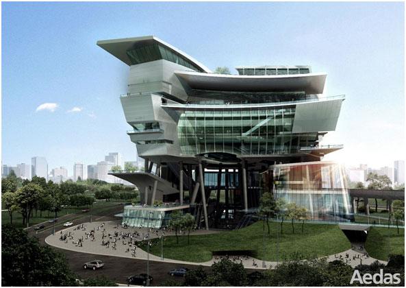 A Civil and Cultural Center Development in Singapore